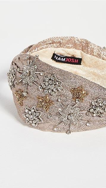 NAMJOSH Gold Metallic Headband