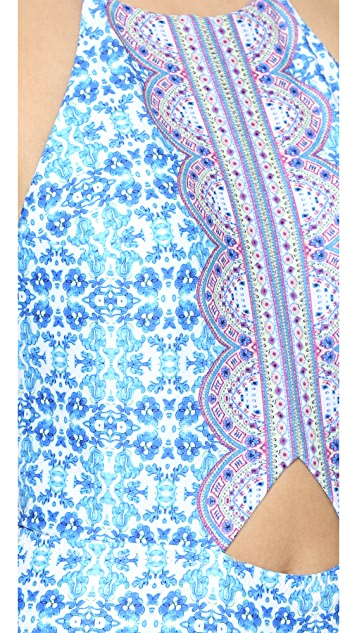 Nanette Lepore Seaside Tile Seductress One Piece