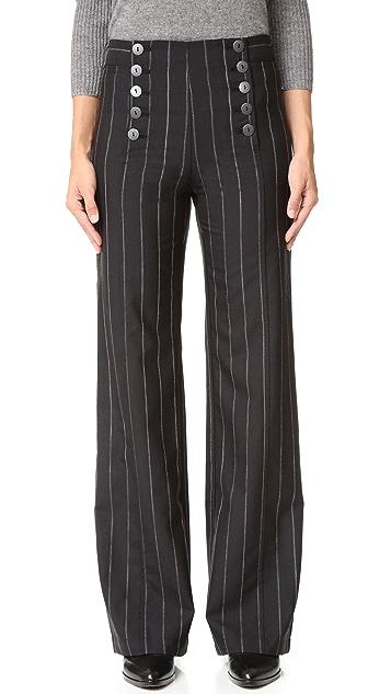 Nanette Lepore Painter Pin Stripe Pants