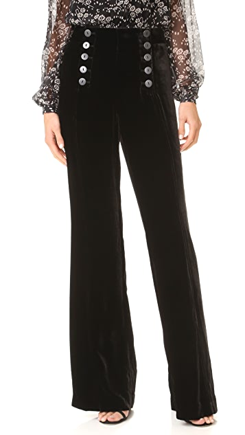 Nanette Lepore Velvet Sailor Pants