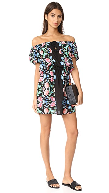 Nanette Lepore Damask Floral Off Shoulder Cover Up