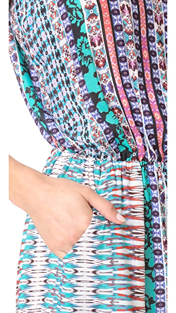 Nanette Lepore Kimono Patchwork Romper
