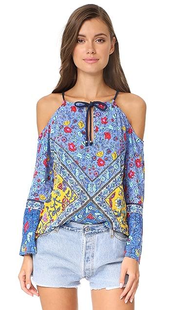 Nanette Lepore Woodstock Off Shoulder Tunic