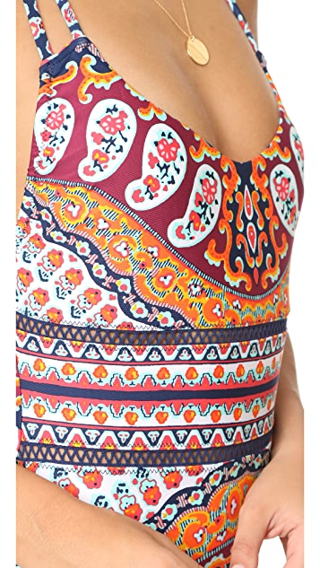 Nanette Lepore Super Fly Paisley Goddess One Piece