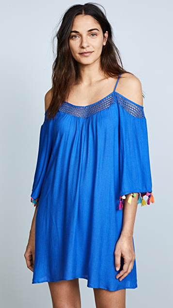 Nanette Lepore Cha Cha Off the Shoulder Cover Up Dress