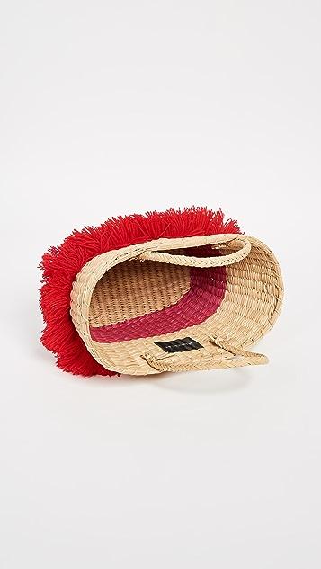 Nannacay Объемная сумка с короткими ручками Mikonos