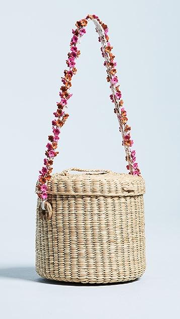 Nannacay Ana Cherry Blossom Bucket Bag