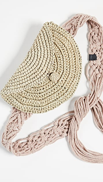Nannacay Peike Pochete  Macrame Belt Bag