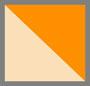 灰白色/橙色