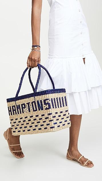 Nannacay Объемная сумка с короткими ручками Hamptons
