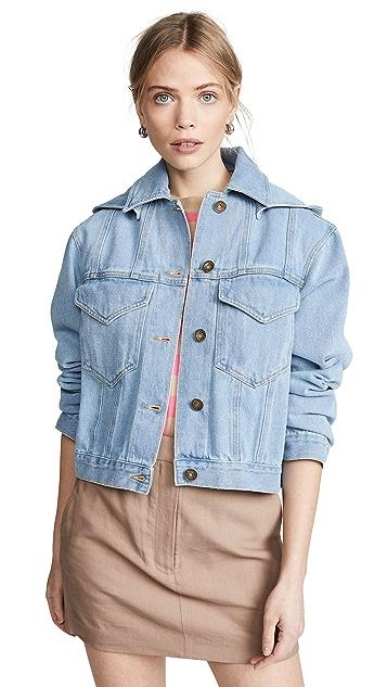 Nanushka Mojave Hooded Denim Jacket