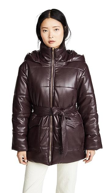 Nanushka Lenox Puffer Jacket with Belt