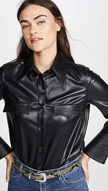 Nanushka Elpi Faux Leather Top