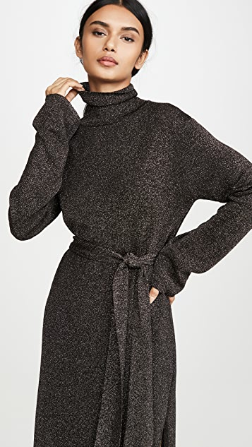 Nanushka Canaan Coat 金属色连衣裙