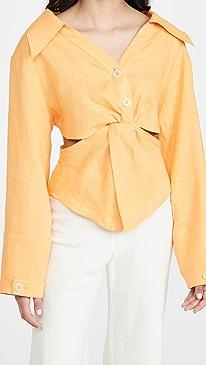 나누슈카 Nanushka Rasha Shirt,Orange
