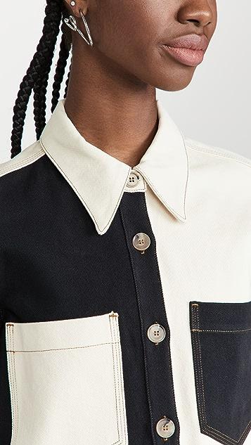 Nanushka Seint Denim Shirt
