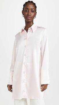 나누슈카 셔츠 Nanushka Gabi Shirt,Rosewater