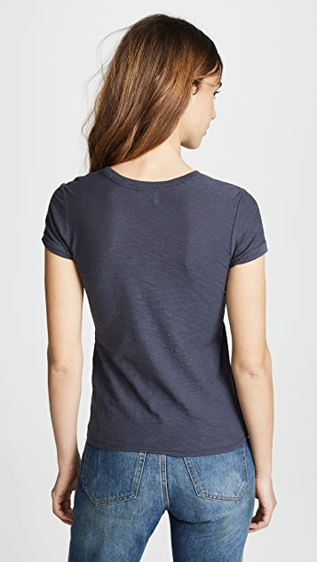 Nation LTD Colette Classic Rolled Crew Tee