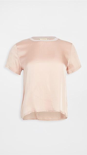 Nation LTD Marie 软缎宽松短款 T 恤