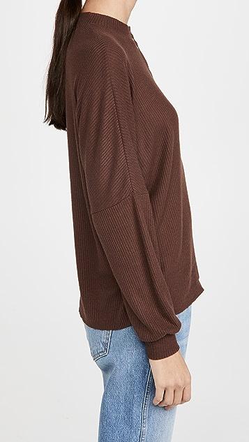 Nation LTD Roux Oversized Snap Henley