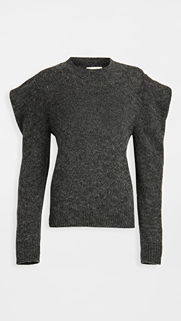Nation LTD Vicki Bold Shoulder Alpaca Sweater