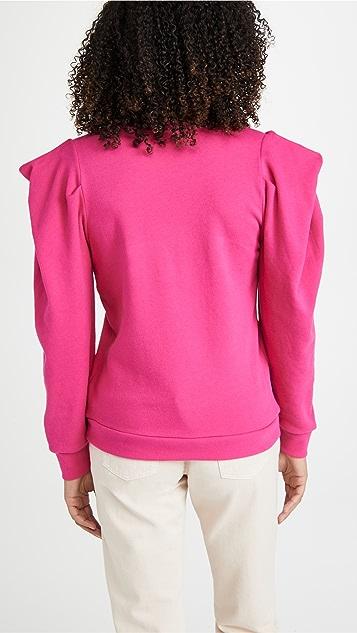 Nation LTD Joss 垂褶袖运动衫