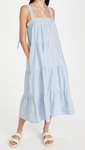 Nation LTD Amelia Tiered Tie Dress