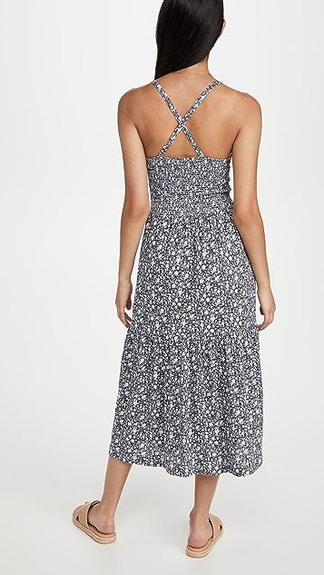 Nation LTD Penelope Cross Back Midi Dress