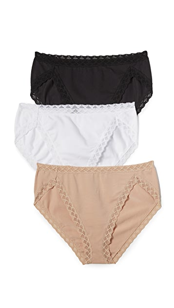 Natori 3 Pack Bliss French Panties
