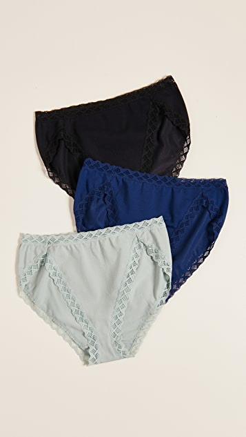 Natori Bliss French Cut 3 Pack Panties