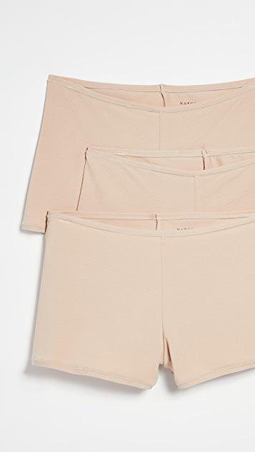 Natori Набор из трех трусиков-шорт Bliss Comfort