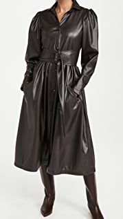 Naya Rea Vlada Vegan Leather Trench Dress