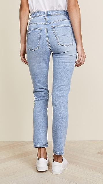 Nobody Denim The True High Rise Slim Straight Ankle Jeans