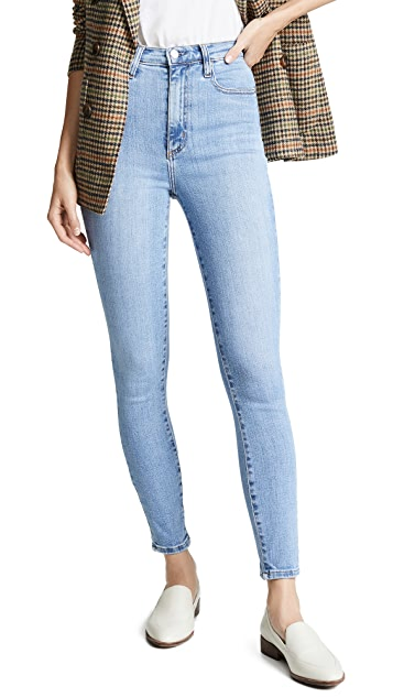 Nobody Denim Siren High Rise Skinny Ankle Jeans