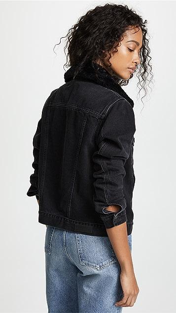 Nobody Denim Fleur Jacket with Removable Collar