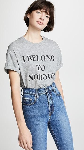 Nobody Denim Belong To Nobody Tee