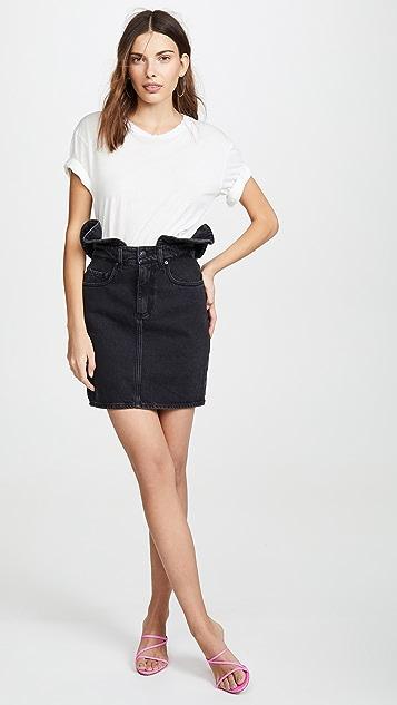 Nobody Denim Ruffle Skirt