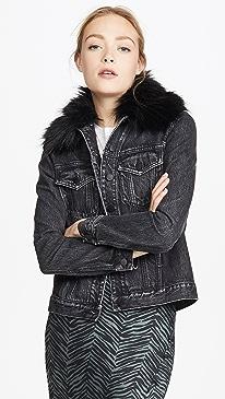Fleur Jacket with Faux Fur Collar