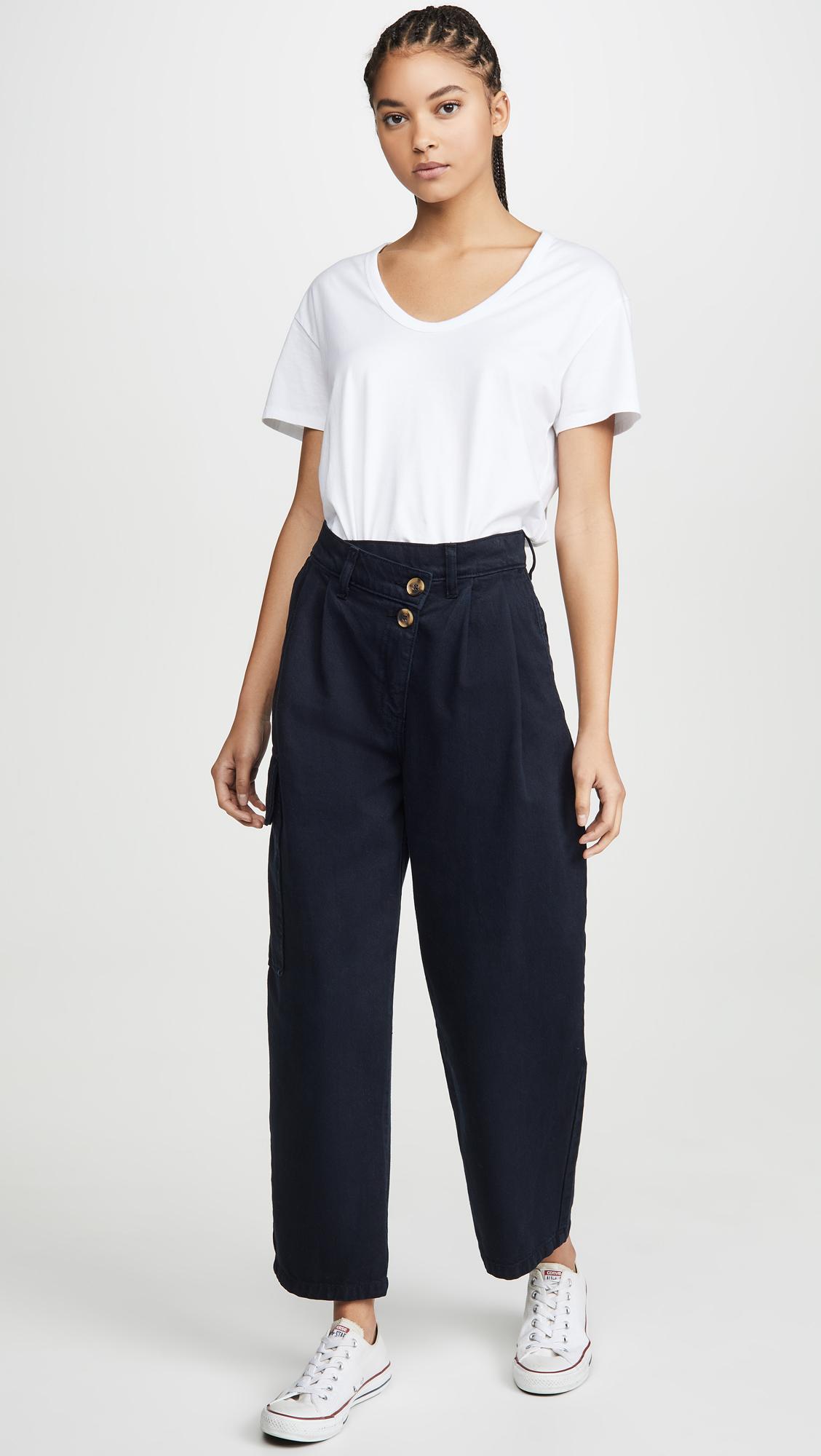 Nobody Denim Angled Pleat Pants