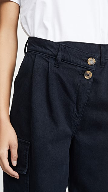 Nobody Denim Angled Pleat Pants