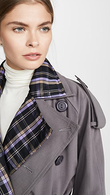N DUO Stripe Collar Detail Trench