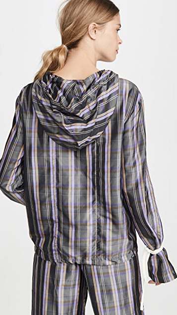 N DUO Striped Long Weekend Top