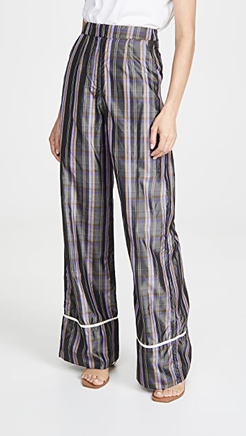 N DUO Striped Long Weekend Pants