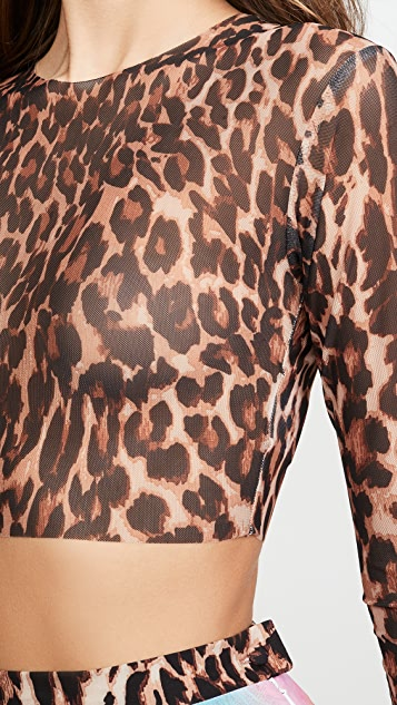 N DUO Leopard Crop Top
