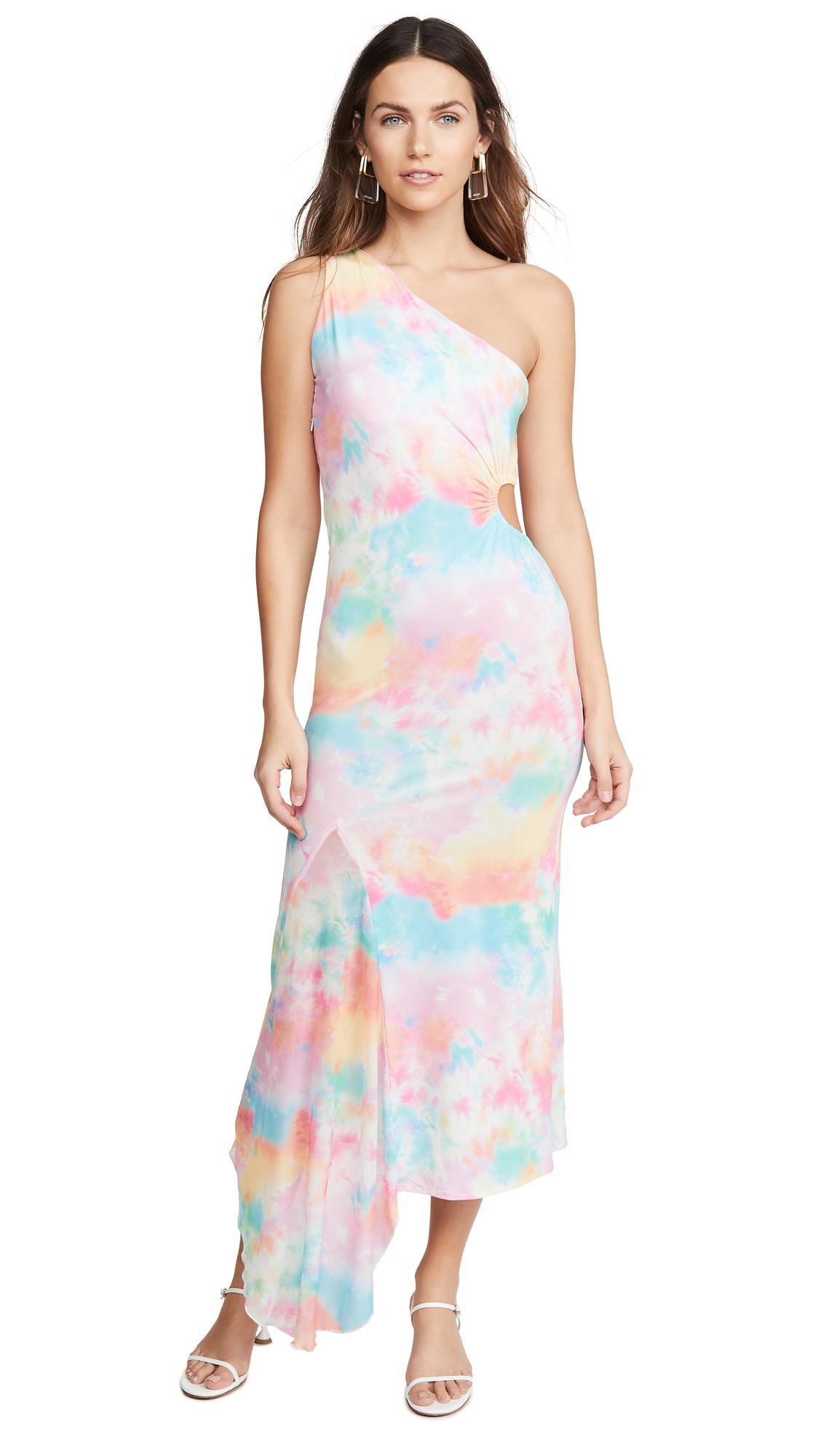 N DUO Tie Dye Cut Out Dress
