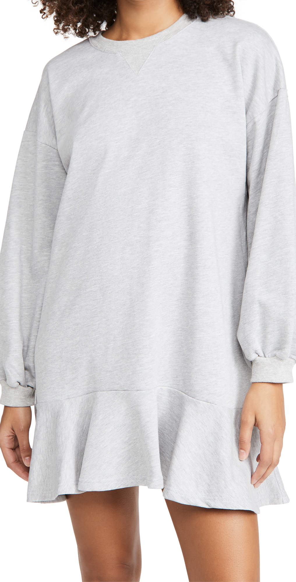 Never Fully Dressed Grey Sweat Mini Dress