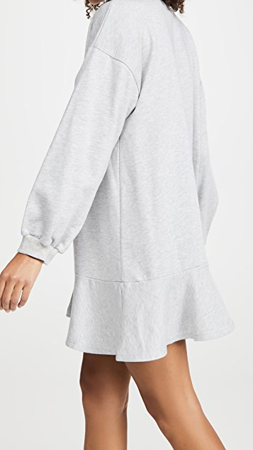 Never Fully Dressed Grey Sweat Mini Dress