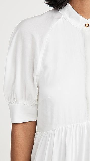 Never Fully Dressed White Panel Maxi Dress