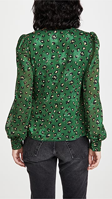 Never Fully Dressed Green Leopard Ada Top