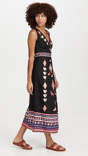 Never Fully Dressed Atia Midiaxi Wrap Dress